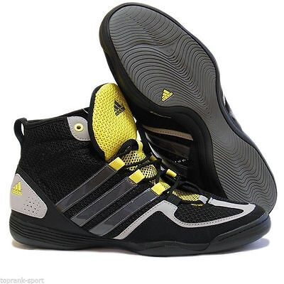 adidas Boxing Boxfit 3 Mens Trainer Shoe Black/ Grey/ Yellow