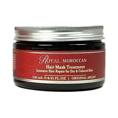 NEW Royal Moroccan Dry/Coloured Hair Mask Treatment 250ml, Boxed + Free P&P