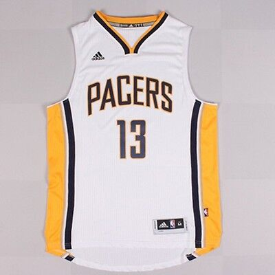 New Indiana Pacers #13 Paul George Basketball Jersey White Size: S - XXL