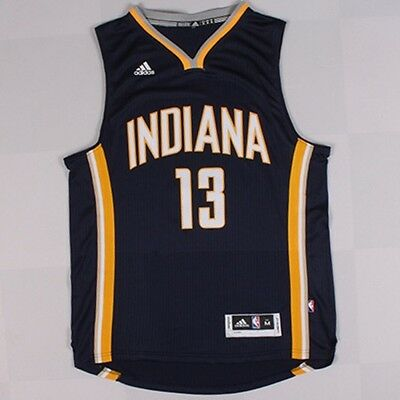 New Indiana Pacers #13 Paul George Basketball Jersey Navy blue Size: S - XXL