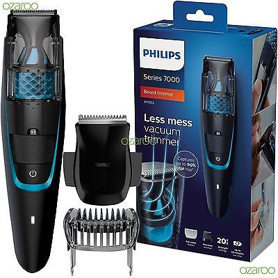 Philips Series 7000 Men Beard & Stubble Trimmer Shaver with Vacuum System BT7202
