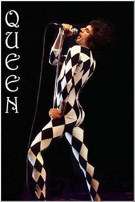 QUEEN FREDDIE MERCURY POSTER NEW 24x36 FAST FREE SHIPPING