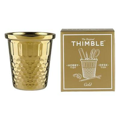The Original Giant Gold Thimble Desk Tidy Storage Pot Hobby & Stationary Tidy