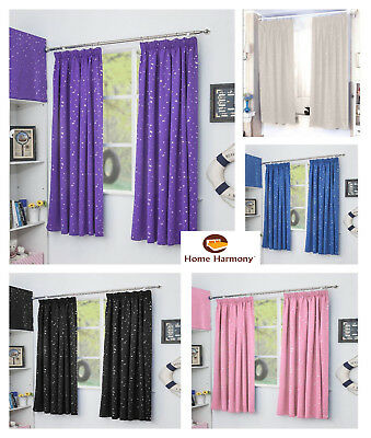 Star Metalic Tape Pleaed Top Thermal Semi Blackout Curtains