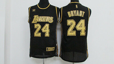 Los Angeles Lakers #24 Kobe Bryant Basketball Jersey Mesh Black Size: S - XXL