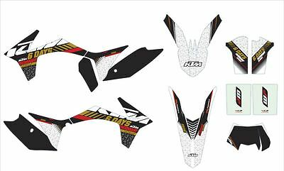 Ktm  Stickers Kit Grafiche Six Days Germany Exc 12-13 Cod 78708990000