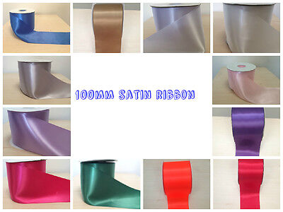 "Satin Sash Ribbon 4"",100Mm Wide Weddings~Hen Parties~Decor~Various Size,Lengths"