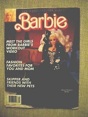 Unread Barbie Magazine for Girls Winter 1992 soft cover Excellent Condition