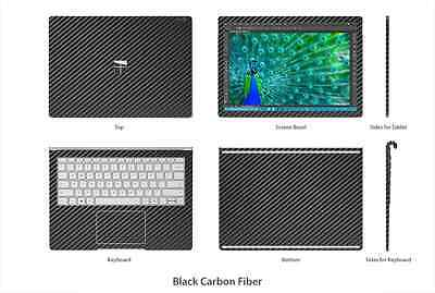 Stickerboy Microsoft Surface Book Skins Carbon Fiber Metal Wood Leather Stone