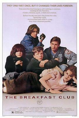 The Breakfast Club Movie POSTER 27x40 Ally Sheedy, Molly Ringwald A LICENSED NEW