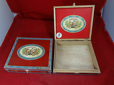 Aj Fernandez Enclave Figurado Wood Cigar Box Lot Of 2