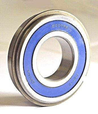 6207-2RS NR Sealed Radial Ball Bearing with Snap Ring