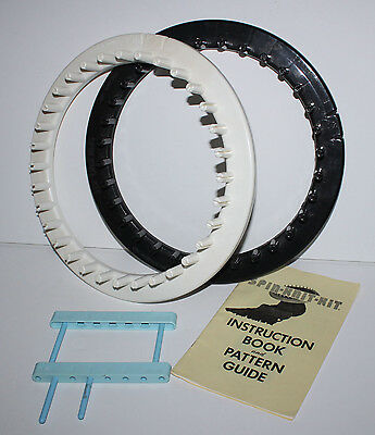 Vintage 2 Spin Knit Kit Looms Knitting + Pattern Guide Instruction Book Looming