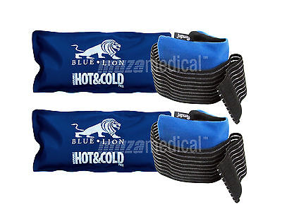 Blue Lion Reusable Hot Cold Ice Heat Pad Gel &  Emdiq Wide Band Sleeve Pack