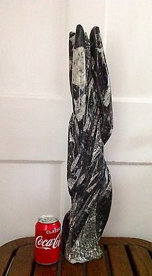 Large Orthoceras Fossil Tower Sculpture*Cut and Polished*Free Standing*6.9Kg