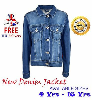 Kids Jacket (fit to boys/girls) in Denim Style Fashion Coat New Age (3 to 16).