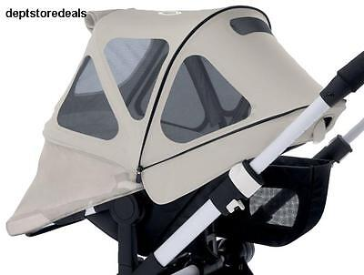 Bugaboo Donkey Breezy Sun Canopy Artic Grey Upf Water Repellent Mesh Coverage