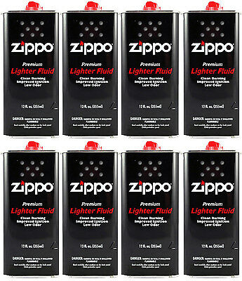 8 Cans Zippo Premium Lighter Fluid 12 fl oz. (355ml) For Zippo Lighters