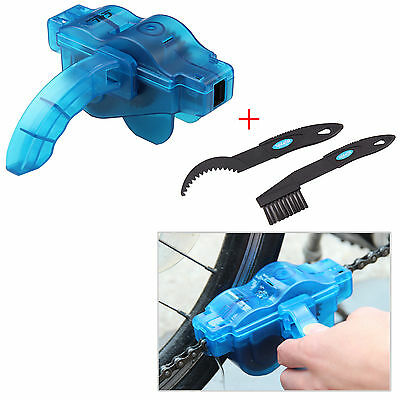 Top Cycling Bike Bicycle Chain Wheel Wash Cleaner Tool Brushes Scrubber Set UK