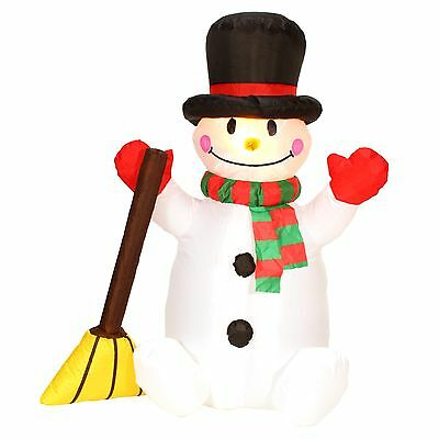 """Danson Decor X94270 INFLATABLE SNOWMAN WITH BROOM 47"""" HEIGHT BONHOMME NEIGE"""
