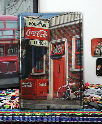 Ice Cold Coca Cola Retail shop front ads Tin Sign Metal wall decor Coke Display