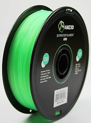AMZ3D 1.75mm Trans Green ABS 3D Printer Filament - 1kg Spool (2.2 lbs)