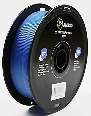 AMZ3D 1.75mm Trans Blue ABS 3D Printer Filament - 1kg Spool (2.2 lbs)