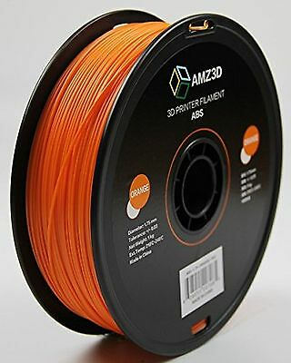 AMZ3D 1.75mm Orange ABS 3D Printer Filament - 1kg Spool (2.2 lbs)