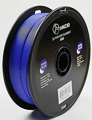 AMZ3D 1.75mm Dark Blue ABS 3D Printer Filament - 1kg Spool (2.2 lbs)