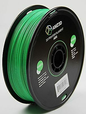 AMZ3D 1.75mm Green ABS 3D Printer Filament - 1kg Spool (2.2 lbs)