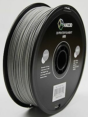AMZ3D 1.75mm Grey ABS 3D Printer Filament - 1kg Spool (2.2 lbs)