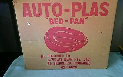 Vintage Never Used Auto-Plas Bed Pan.  Nib.  Made In Melbourne.