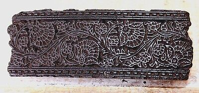 Antique Traditional Handcarved Wooden Textile/Fabric/wallpaper Print Block #183