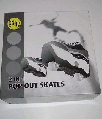 Wheeler Walkers 2 in 1 Pop Out Skates Roller Skate Shoes size 38 youth/ladies 7