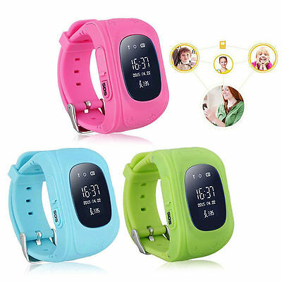 Anti-lost Children kid Smart GPS Positioning Wrist Watch Q50 For Android IOS