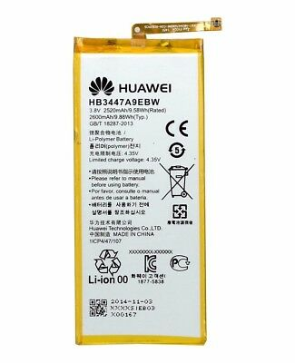 2600mAh  Genuine Replacement Battery For Huawei P8 HB3447A9EBW