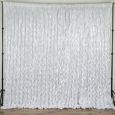 WHITE MATTE SATIN BACKDROP 20 10 ft Stage Party Wedding Photo Booth Decoration