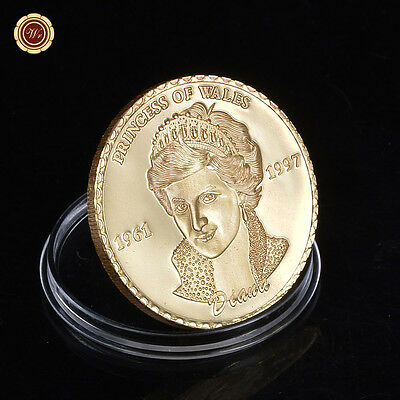 Princess of Wales Diana Commemorative Coin England Rose The People's Princess