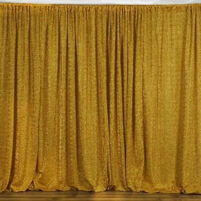 Metallic Gold BACKDROP 20x10 ft Spandex Party Wedding Decorations SALE