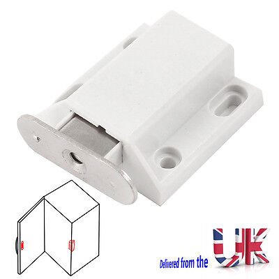 White Push To Open Magnetic Door Drawer Cabinet Catch Touch Latch