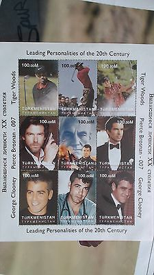 Tiger Woods / Pierce Brosnan / George Clooney 20th Century Personalities