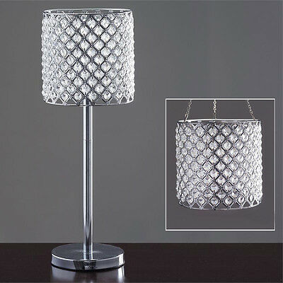"""SILVER METAL 22"""" tall Faux Crystal Beaded Centerpiece Party Decorations SALE"""