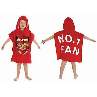 Arsenal Football Club Crest Poncho Boys Hooded Bath Beach Towel