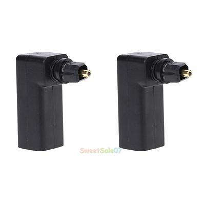 Standard Optical Male Female Toslink SPDIF Joiner Adapter Black 90 Right Angle s