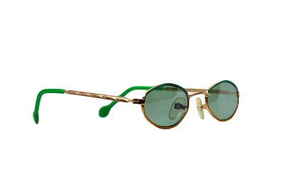 New Kid's Retro Child's Vintage Small Oval Sunglasses Green Xsgb-161Acam