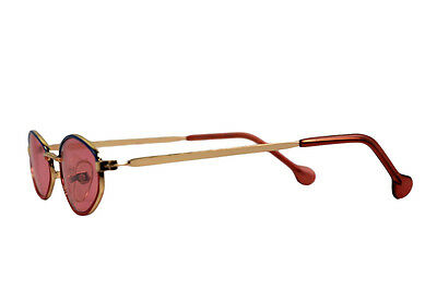 New Kid's Retro Child's Vintage Small Oval  Sunglasses Gold Red Xsgb-161Acam