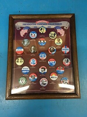 Democratic Presidential Campaign Pins Roosevelt Kennedy 1898-1984 Repro HB06