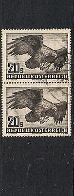 STAMPS  AUSTRIA 1950  AIR 2x  20s (FINE USED) Golden Eagle   BIRD  lot  A141