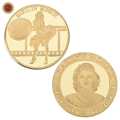 WR Marilyn Monroe Seven Year Itch Gold Plated Commemorative Collecting Gold Coin