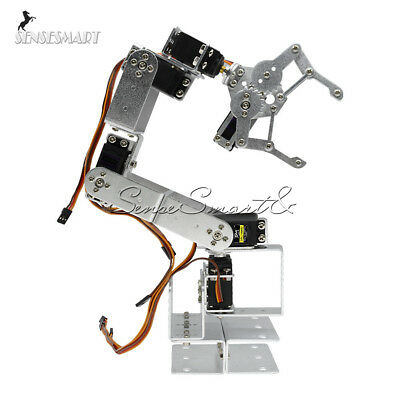 Aluminium Robot 6DOF Arm Clamp Claw Mount Mechanical Robotic Arm for Arduino